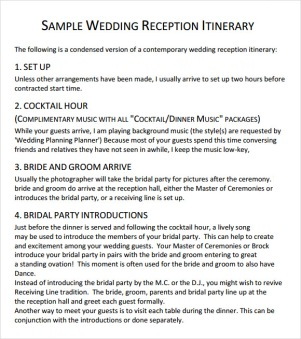Sample-Wedding-Reception-Itinerary-Template
